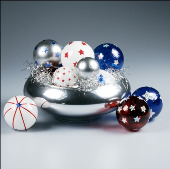 Patriotic Glass Ball Centerpiece