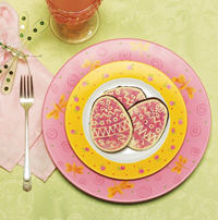 Spring Easter Painted Dinner Plates