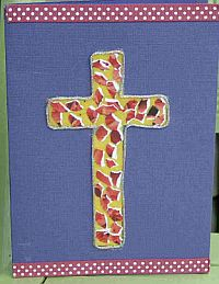 Beaded Easter Cross Card
