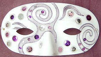 Beaded Mardi Gras Mask