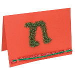 Beaded Monogram Card