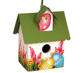 Painted Easter Birdhouse