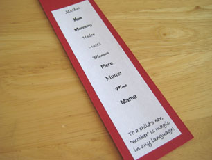 Mother's Day Bookmark 3