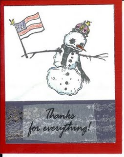 Snowman Veteran's Day Card
