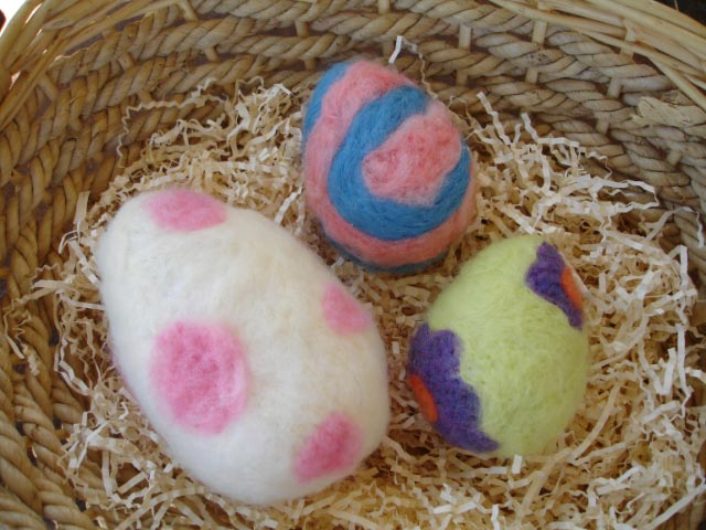 Crafty and Cushy Tattooed Easter Eggs