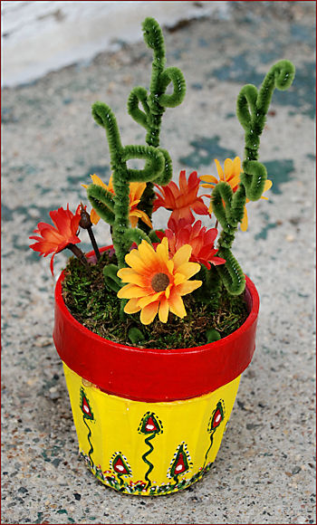 Finished Mother's Day Flower Pot