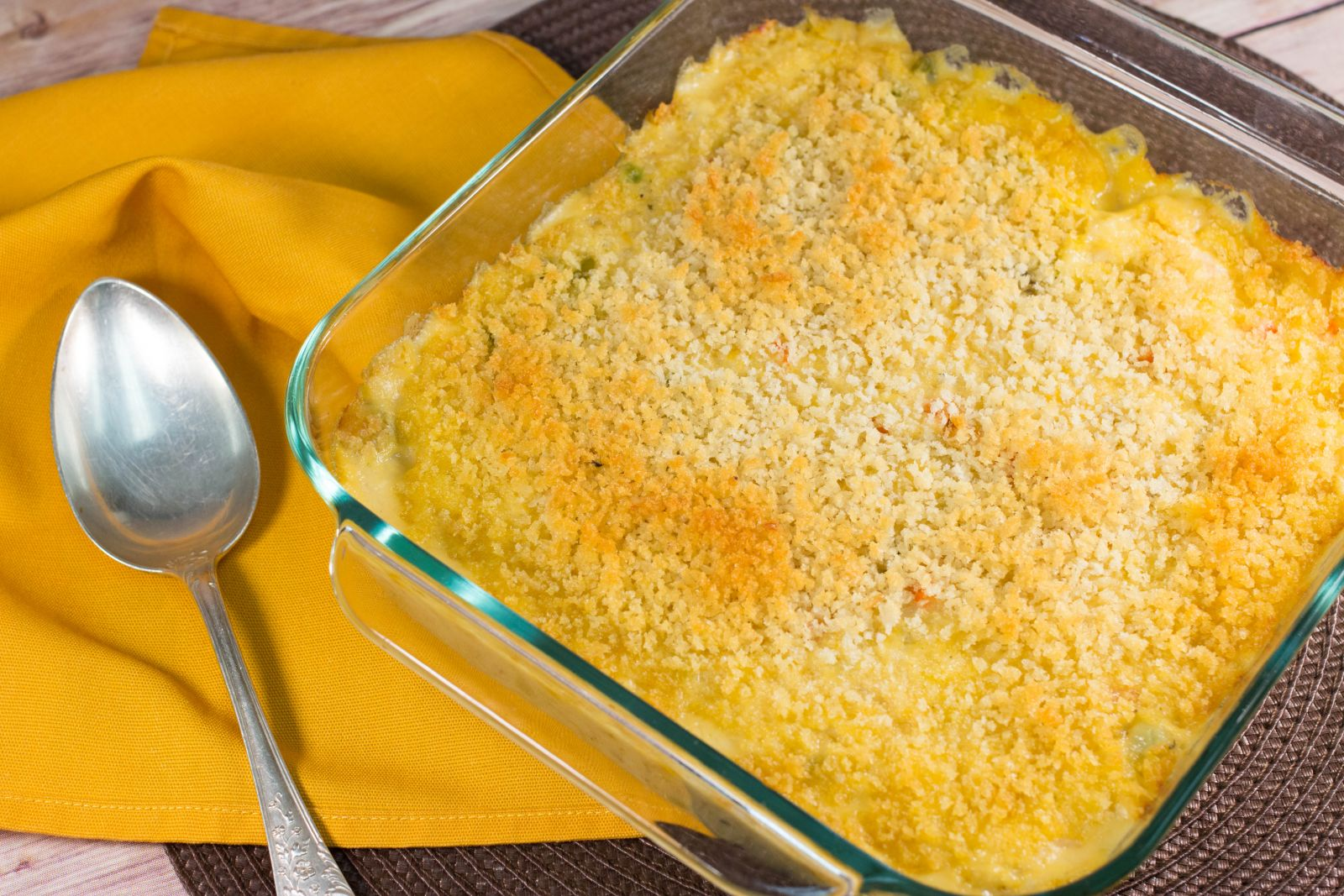 Copycat Stouffer's Chicken and Rice Bake