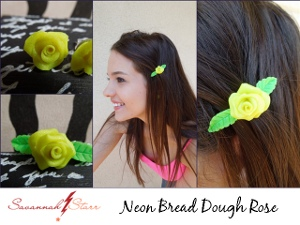 Awesome Neon Rose Earrings