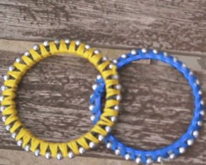 Simple Beaded Bangle