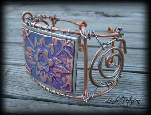 Copper Wire Cuff Bracelet