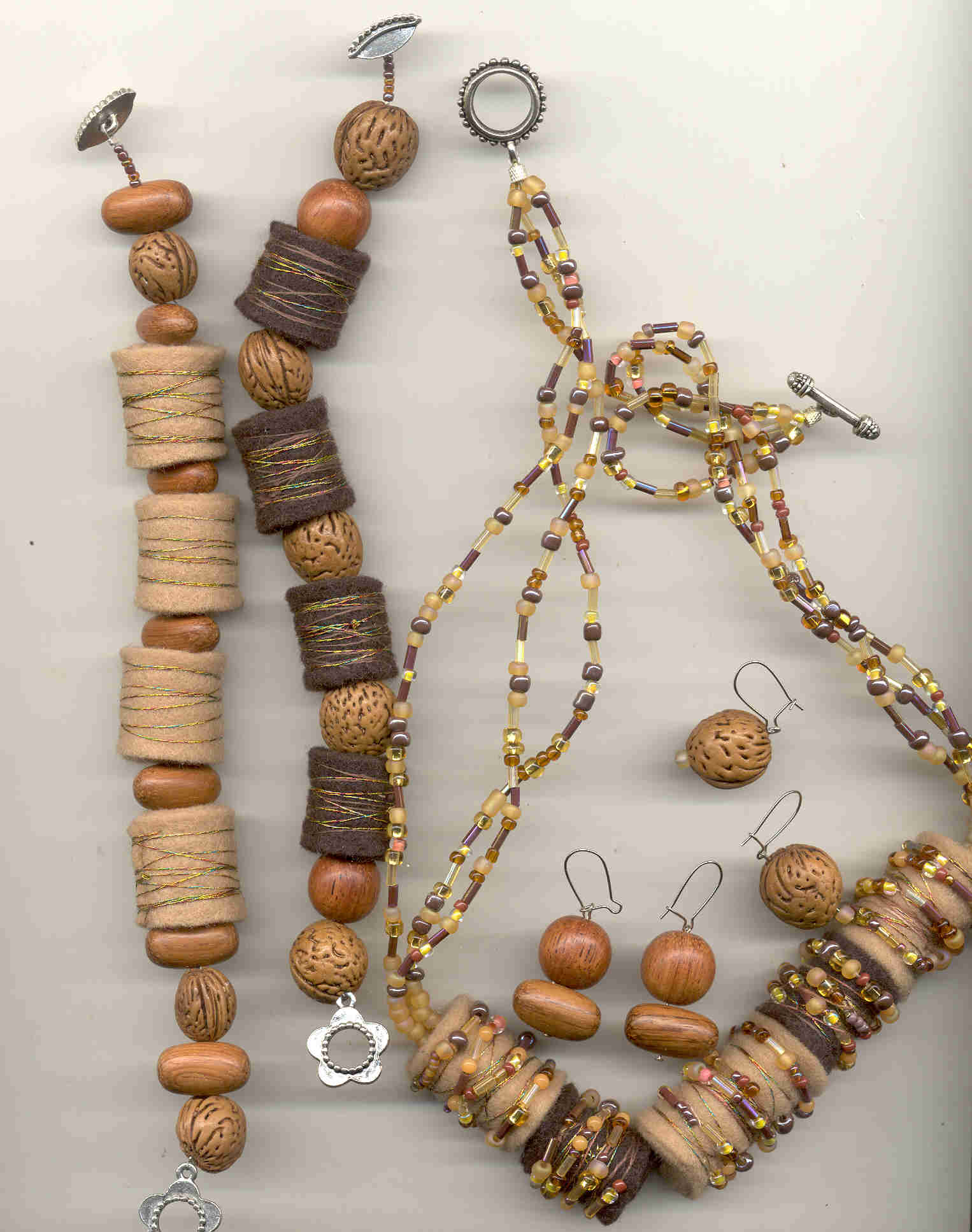 Earth Tones Jewelry Set