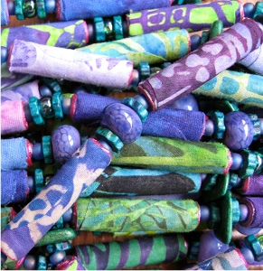 Painted Fabric Beads