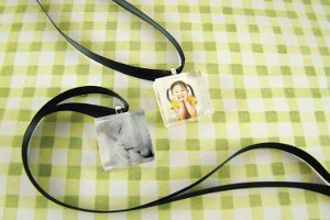 Glass Tile Keepsake Necklace