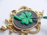 Lucky Irish Clay Pendant Step 8