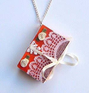 Mini Book Pendant