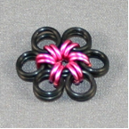 Pink Metal Flower for Earrings