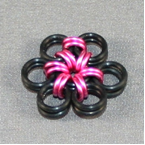Pink Metal Flower Earrings Step 5