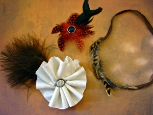 Sassy Feathered Hair Accessories