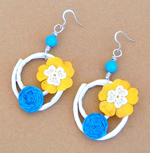 Summer Paper Earrings