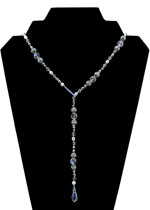 Blue Ice Lariat Necklace