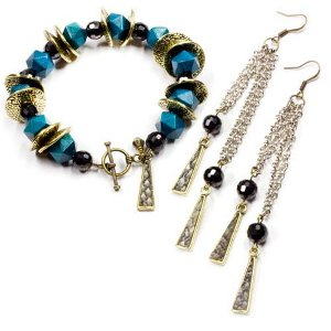 colors of the night jewelry set