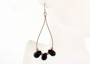 Darling Dangle Copper Earrings