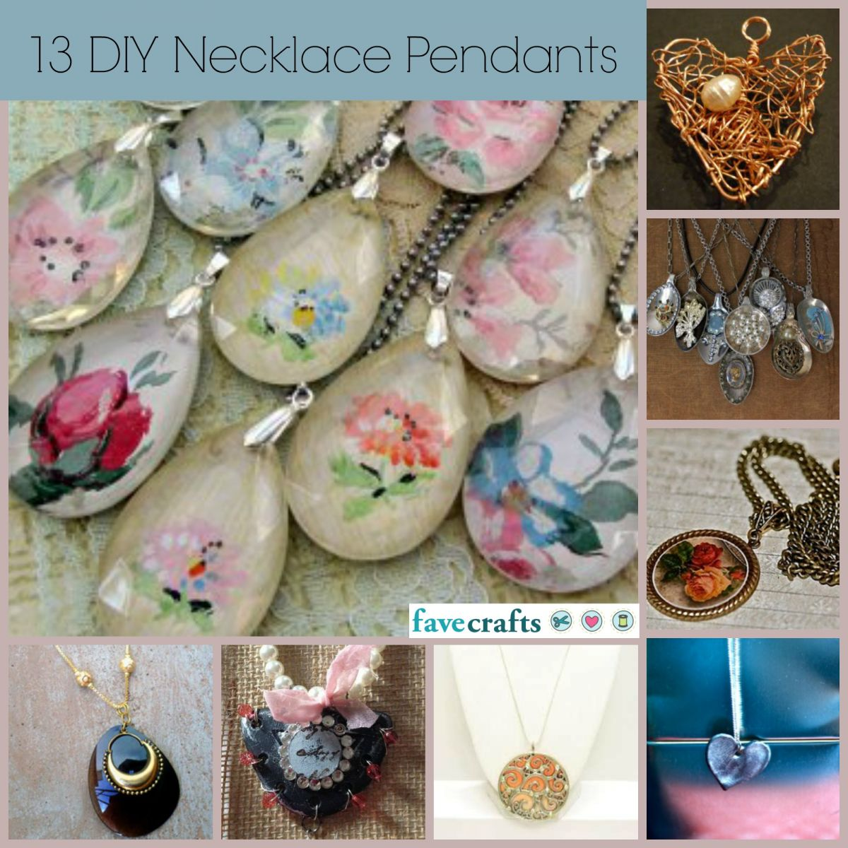13 DIY Necklace Pendants