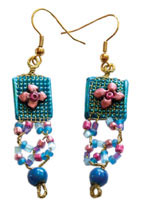 Bead and Mesh Earrings