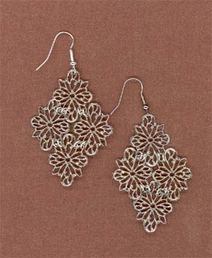 Filigree Earrings Finished Product