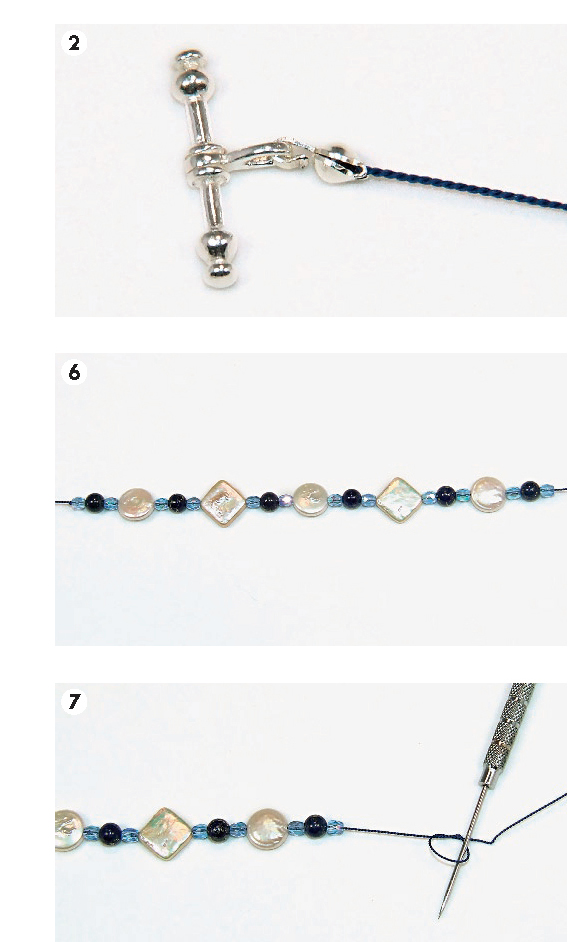 Geometric Gemstones and Pearl Knot Necklace