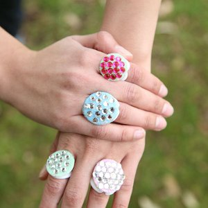 Sparkly Bling Rings