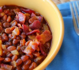 Slow Cooker Bacon Baked Beans