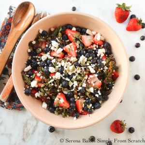 Kale Strawberry Blueberry Salad