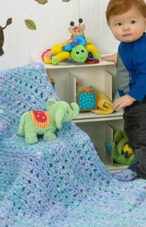 Blue Baby Blanket Knitting Pattern