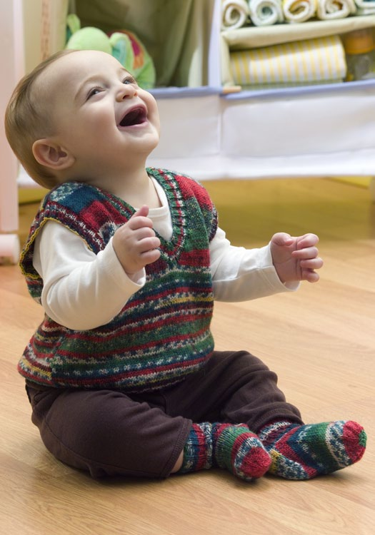 Baby Holiday Vest Crochet Pattern From Red Heart Yarn Favecrafts