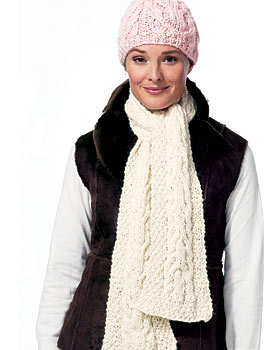 Cable Knit Hat and Scarf