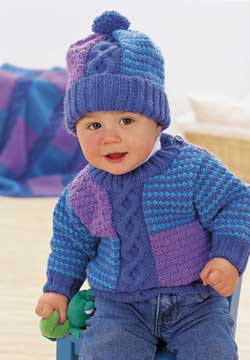 Cable Knit Baby Sweater and Hat