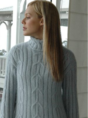 Tunic Cable Turtleneck Sweater Knitting Pattern Favecrafts