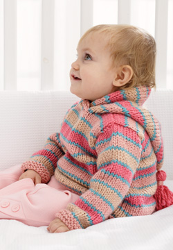 Chunky Hoodie Baby Sweater Knitting Pattern | FaveCrafts.com