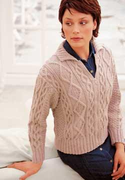 4798dde281e8db Cable Zippered Jacket Knitting Pattern