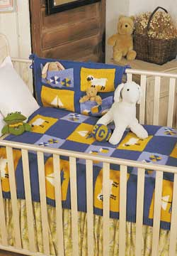 Crib Catch All and Blanket