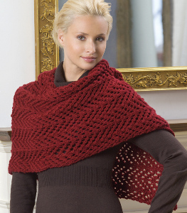 Easy Lace Shawl Knitting Pattern Favecrafts Com