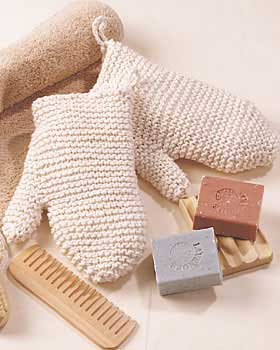 Knit Bath Mitts