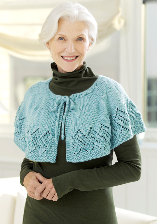 1bd16ed9d Lace Capelet Knitting Pattern from Red Heart Yarn