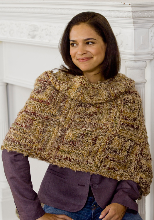 Mitered Wrap Knitting Pattern From Red Heart Yarn Favecrafts