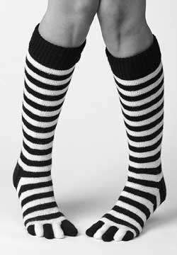 Knit Striped Toe Socks