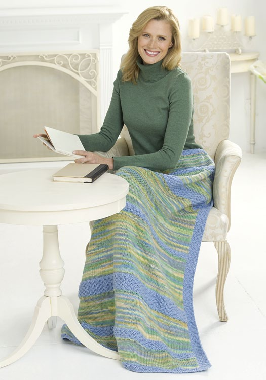 Peaceful Lap Afghan Knitting Pattern Favecrafts