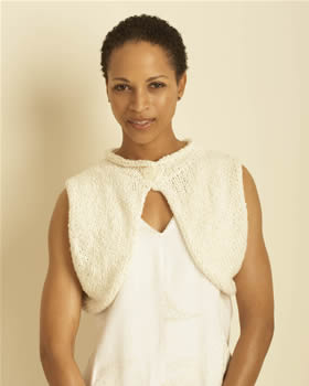 Soft Knit Button Shrug