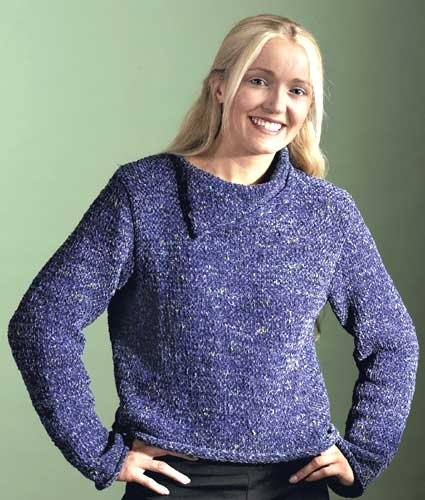 Split Neck Sweater Knitting Pattern From Caron Yarn Favecrafts