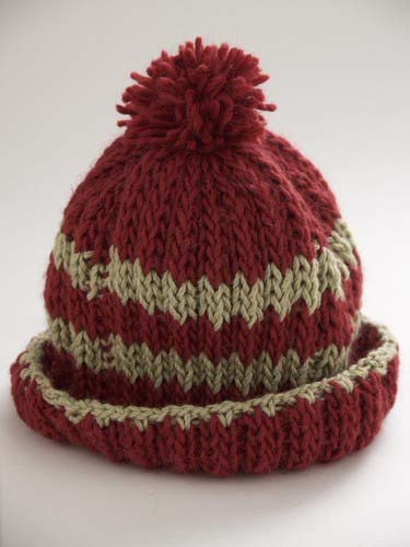 Stripe Hat In Rib Stitch Favecrafts